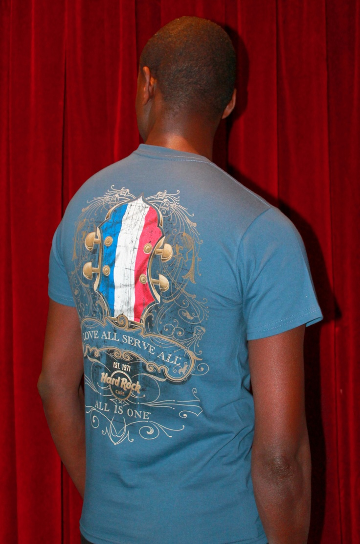 Headstock Flag T Harbor Blue. Only @hrcparis
