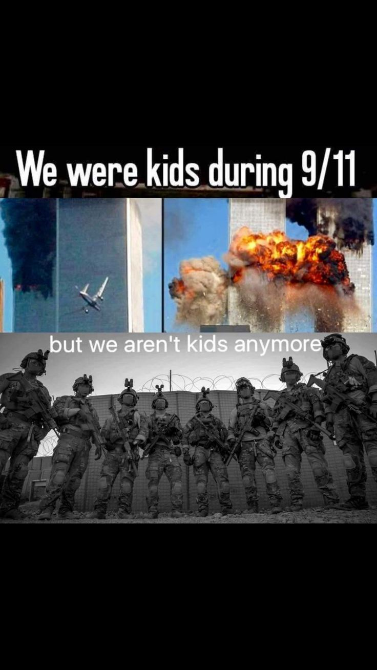 God Bless you all who saw 9/11 and grew up to be one of the few who will give all to defend the US. You are the very best that we have in this Country and are appreciated by those of us who are awake and understand what's at stake.