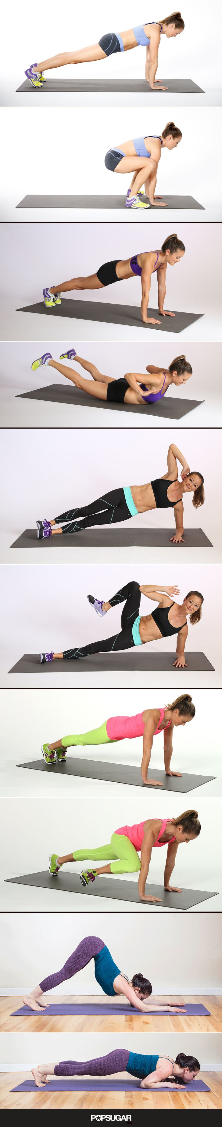 Check out this 3-minute plank workout. Short yet effective!