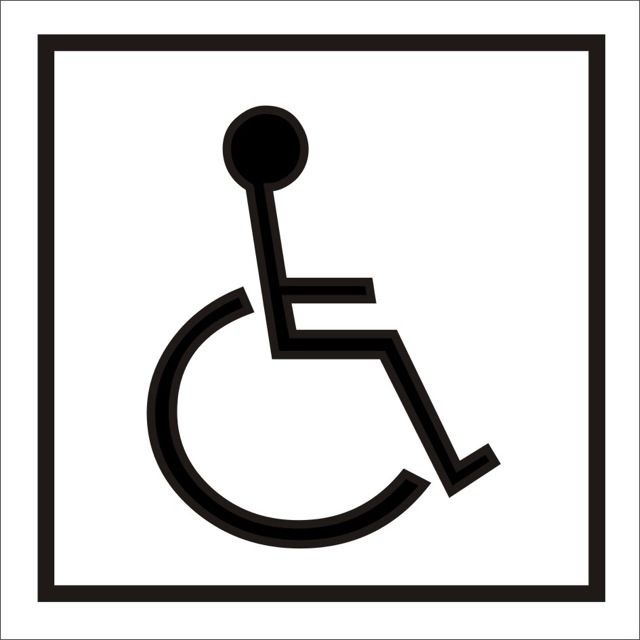 Naklejka Inwalida. Oznaczenie określa pojazd prowadzony przez osobę niepełnosprawną. W tym przypadku pojazd jest konstrukcyjnie przystosowany do osoby...