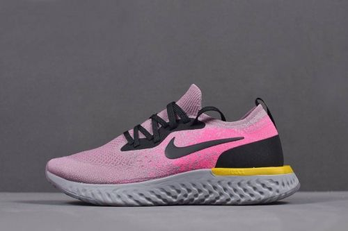 hot sale online 692d6 98004 nike wmns epic react flyknit pink yellow black grey shoes for sale