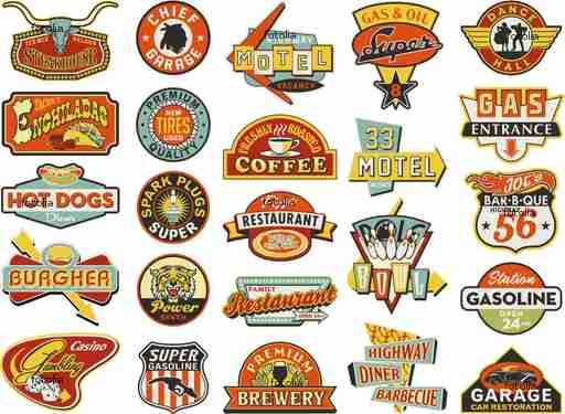 50's logos (Fotalia, 2014)