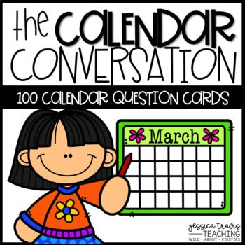 Make the most of your calendar by adding these little conversation cards into the mix!Included are 100 question cards that require less than 1 minute of engagement... so you don't have to alter your current calendar routine!