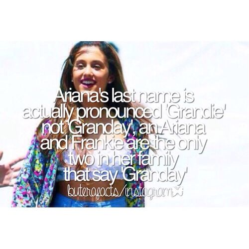 Ariana Grande fact!♡Follow @ Hadlee Hoffman