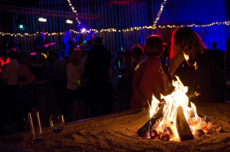 Smokeless Logs for the Barn  Hill Top Farm Wedding