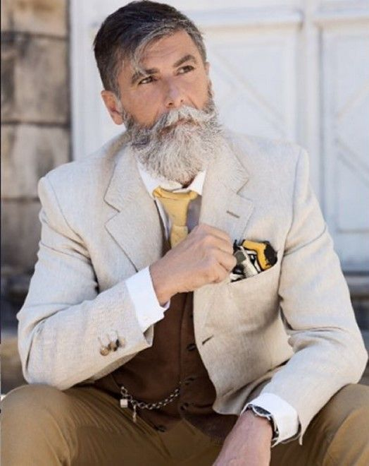 60-year-old fashion model Philippe Dumas from Paris