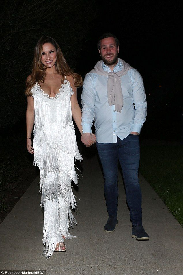 Dazzling: Sam Faiers looked every inch the star-to-be as she attended a pre-Oscars party with her boyfriend Paul Knightley in the City Of Angels on Friday night