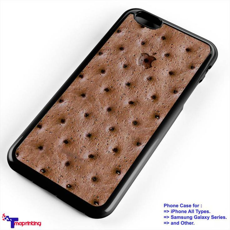 Chocolate Ice Cream Sandwich - Personalized iPhone 7 Case, iPhone 6/6S Plus, 5 5S SE, 7S Plus, Samsung Galaxy S5 S6 S7 S8 Case, and Other