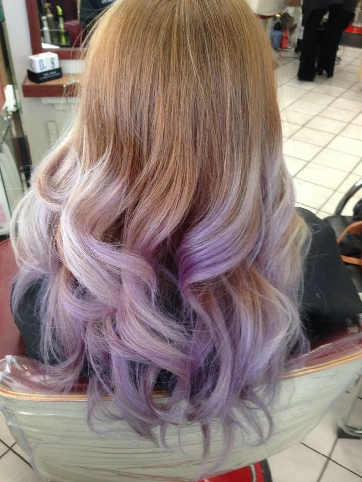 Lavender Ombr Yelp Hairables In 2019 Dyed Hair Dip
