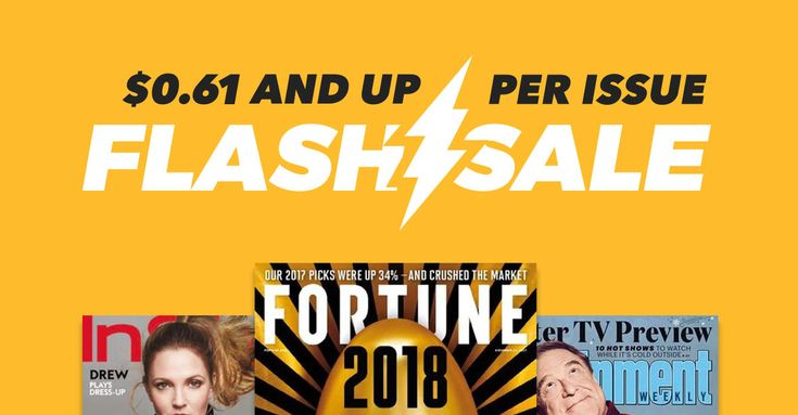 We've got magazine subscription deals you won't want to miss! #FlashSale