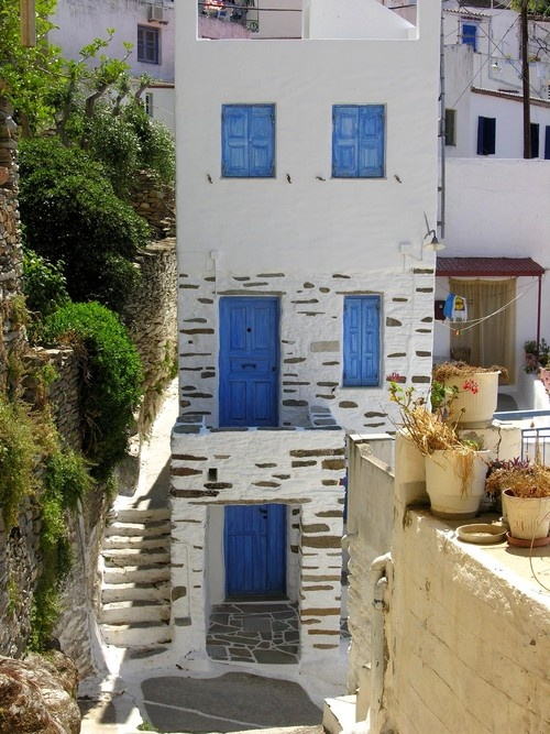 Houses in Kea, Greece
