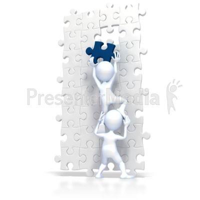 build puzzle teamwork powerpoint clip art presentmedia com