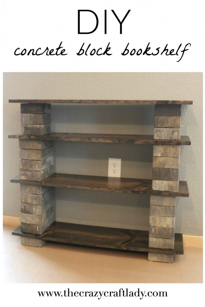 This concrete block bookshelf that is stylish, inexpensive, and easy to make in an afternoon.  It's a great way to add permanent or temporary storage to any space.
