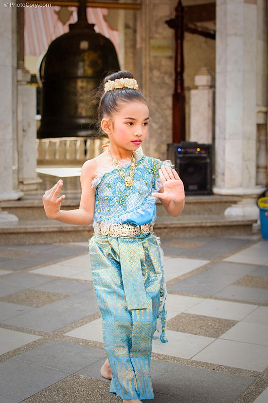 little girls dancing with makeup, chiang mai, thailand
