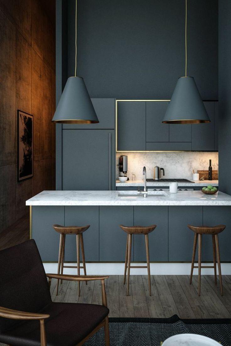 Küche in Grau durch eine Galerie von 40 fabelhaften Interieurs