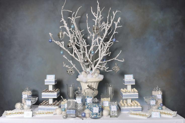 Winter Wonderland Dessert Bar im Augenblick erwischt – zwei ist eine Party   – Winter wonderland theme