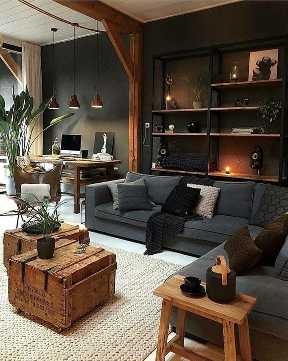 30 Extraordinary Living Room Design Ideas With Lighting Trenduhome Warm Home Decor Living Room Decor Apartment Dark Living Rooms
