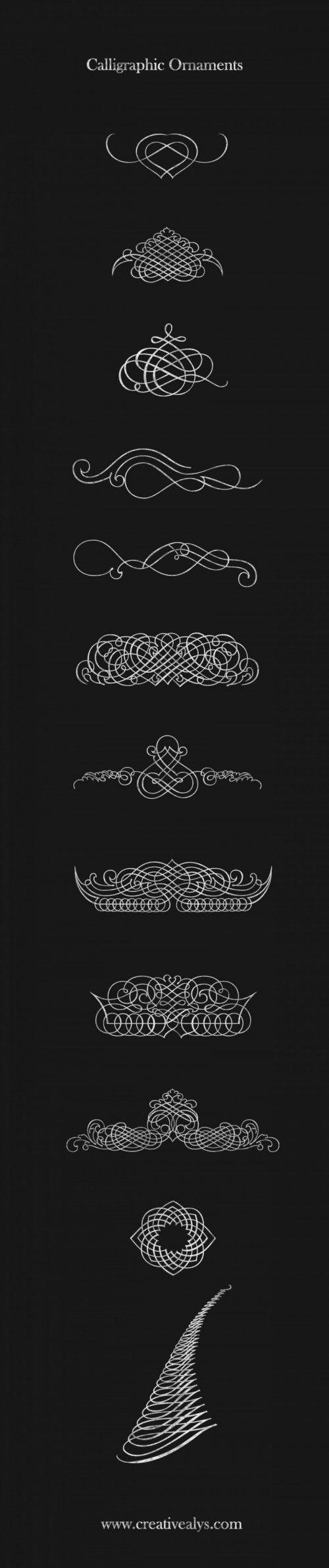 calligraphic-ornaments-CreativeAlys                                                                                                                                                                                 もっと見る