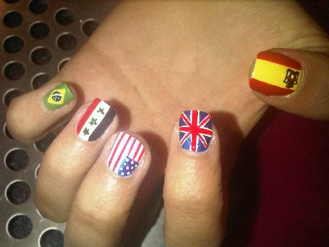 The 25 best flag nails ideas on pinterest american flag nails image detail for teenage nail art flags nail art teens craze prinsesfo Choice Image