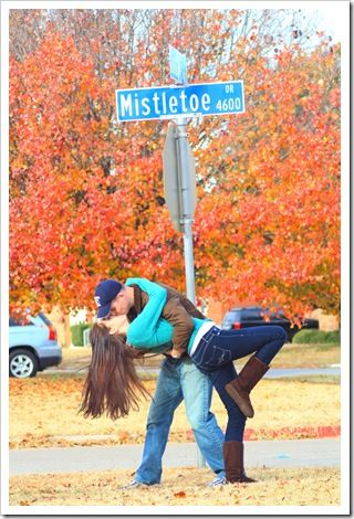 Share a kiss at Mistletoe Dr., Indianapolis, Indiana, 46237