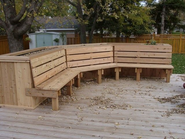 Image Detail For  Deck Planter Bench Plans | Woodworking Project Plans