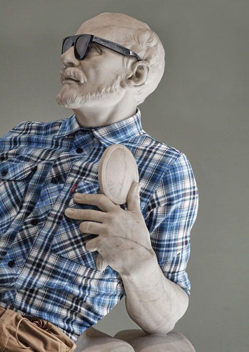 Photographer Gives Greek Sculptures a Hipster Makeover Using Photoshop hipsterinstone 1