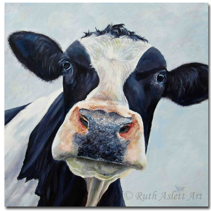 Aliexpress.com : Buy Canvas Cow painting pictures living room modern oil painting wall decoration Animal painting murals art wall pictures art from Reliable art wall pictures suppliers on YW-MX- Store