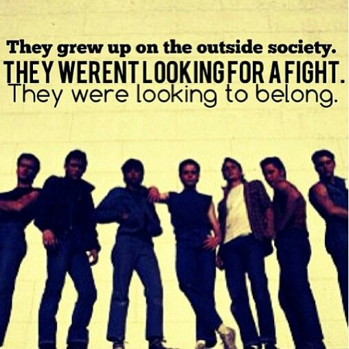 Famous Quotes From The Outsiders Movie: -S E . Hinton This Is The Best Movie Ever Made. If You Don