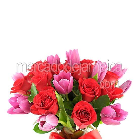 Floreria df Sur Tulipanes Morados y Rosas Freedom Purple !  Envia Flores