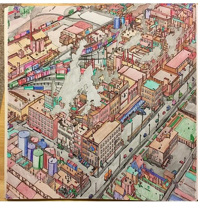 Fantastic Cities Adult ColoringColoring BooksColouringColored