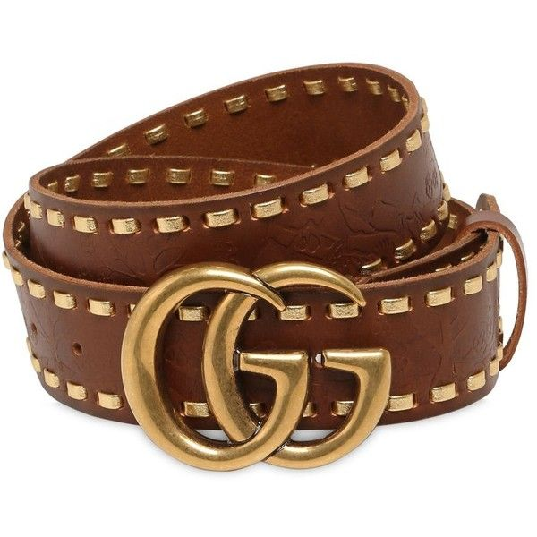 Gucci Women Gg Marmont Leather Belt ($595) ❤ liked on Polyvore featuring accessories, belts, brown, leather buckle belt, adjustable leather belt, adjustable belt, leather belts and gucci