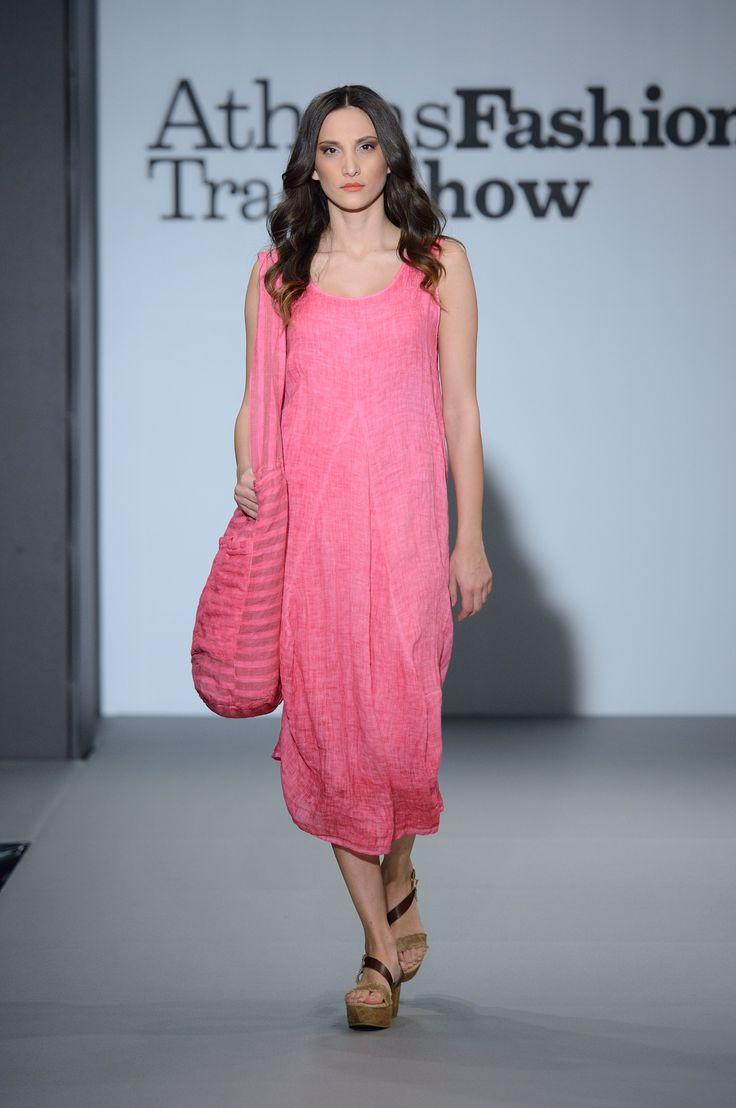 Great color gauze summer dress+linen bag. 100% Natural fabrics