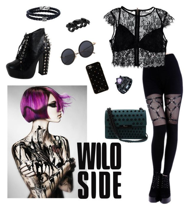 """Wild Side"" by jessicaadawn on Polyvore featuring Nasty Gal, Kate Spade, Dsquared2, Phillip  and Foley + Corinna"