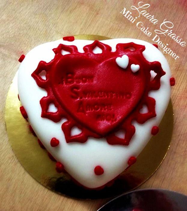 Mini Heart cake for Luciana ...