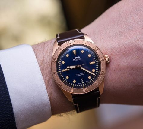 @oriswatch Divers Carl Brashear Limited Edition in bronze and blue dial. #oris #oriswatch #orologio #montre #uhren #watchfam #watch #womw #watchesofinstagram #instawatch #dailywatch #watchoftheday #swisswatches #watchcollector #watchcollecting #watchporn #wristporn #luxurywatches #luxurywatch #wristshot #horology #wristgame #todayonthewrist by todayonthewrist