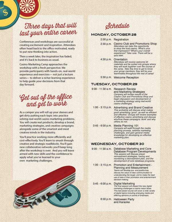 Casino Marketing Camp | Red Circle Agency | 2013 on Behance