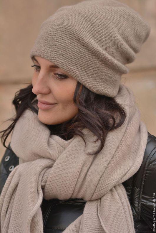 Шарфы и шарфики ручной работы. Ярмарка Мастеров - ручная работа. Купить Вязаный кашемировый шарф Laid Back. Handmade.