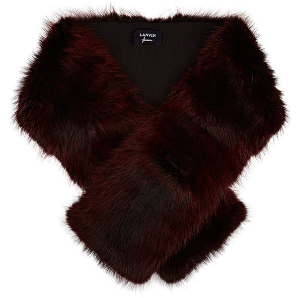 Lanvin Women's Fur Stole (£1,495) ❤ liked on Polyvore featuring accessories, scarves, burgundy, lanvin, fur shawl, fur stole, fur scarves and burgundy scarves