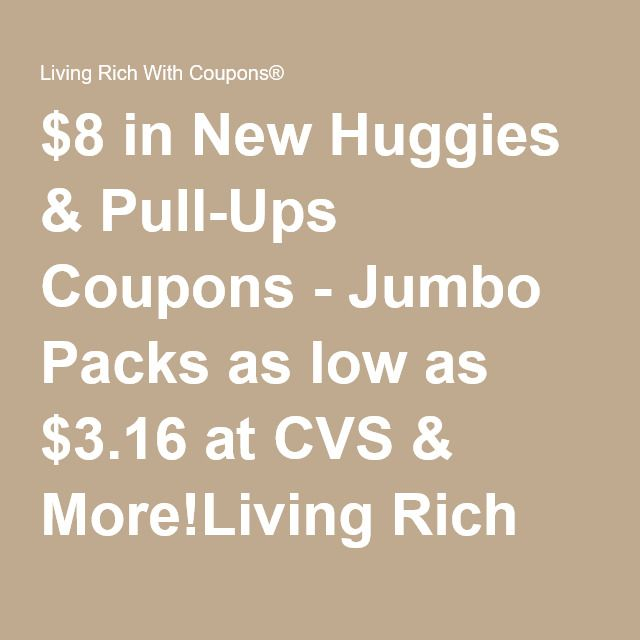 06-05-16 $8 in New Huggies & Pull-Ups Coupons - Jumbo Packs as low as $3.16 at CVS & More!Living Rich With Coupons®
