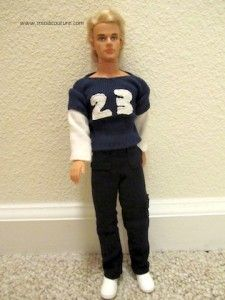 Free Barbie Doll Sewing Pattern: Ken Pants