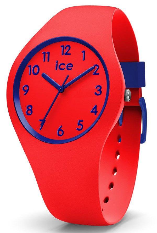 Ice-Watch kinderhorloge ICE Ola Candy Red Small IW014429. De trendy Ice Watch ICE horloges zijn er nu ook in kidsversie. De kinderhorloges zijn vervaardigd uit siliconen en sluiten door middel van een gespsluiting. Dit model 'Candy' is rood met paars. De rode horlogeband loopt door in de kast met rode wijzerplaat en paarse details, index en wijzers. De siliconen band is rood met paarse accenten.