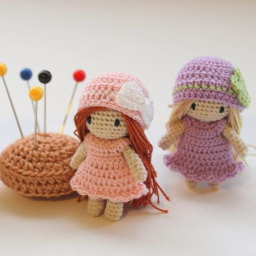 poupee au crochet - DIY crochet dolls, so cute!