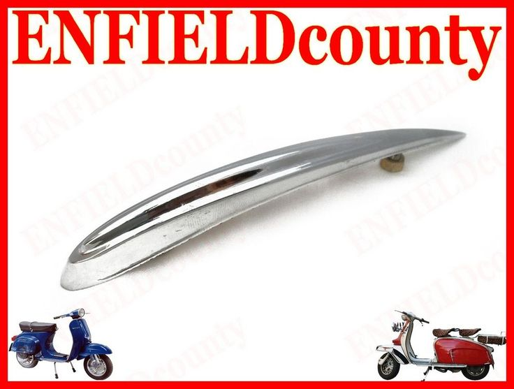 BRAND NEW VESPA FRONT MUDGUARD TEAR DROP CHROME PLATED TRIM CREST EARLY MODELS