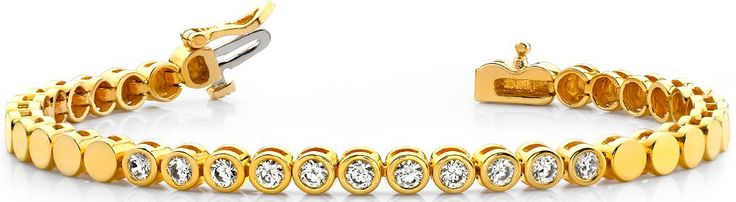 Diamantarmband mit 1.10 Karat Diamanten aus 585er Gelbgold bei www.diamantring.be für nur 2490.00 Euro Versandkostenfrei bestellen.
