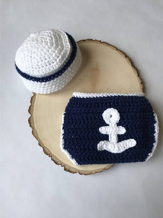 Newborn sailor outfit-newborn nautical outfit-baby photo