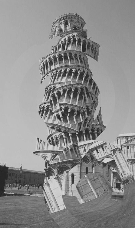 Amadeus Garcia - This picture shows and example of asymmetrical balance because the picture is all chopped up and looks like it is going to fall over.