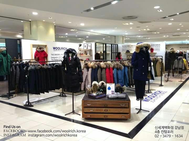 신세계백화점 강남 4층 울리치 팝업스토어 Woolrich Pop Up Store @Shinsegae Gangnam