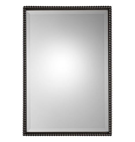 Rejuvenation Beaded Rectangular Mirror Oil Rubbed
