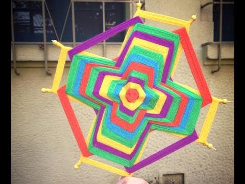 tutorial mandala tejido 6 puntas (facil) - YouTube