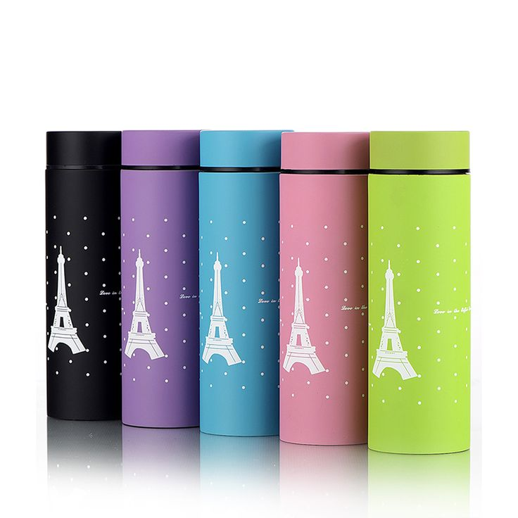 260ml Stainless Steel insulated Mug Travel Vacuum Flask Thermos Sports Drink Bottle Water Paris Eiffel Tower Coffee Cup and Mugs